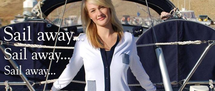 White jacket - Boat